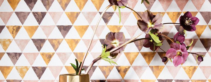 midbec tapet geometriskt mönster kurioza