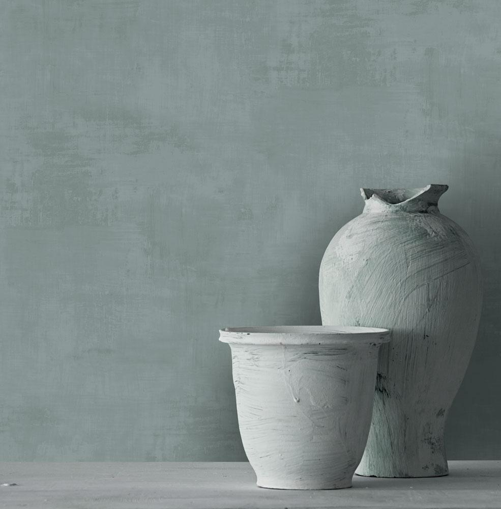 kalkyta kalk tapeter gråblå midbec