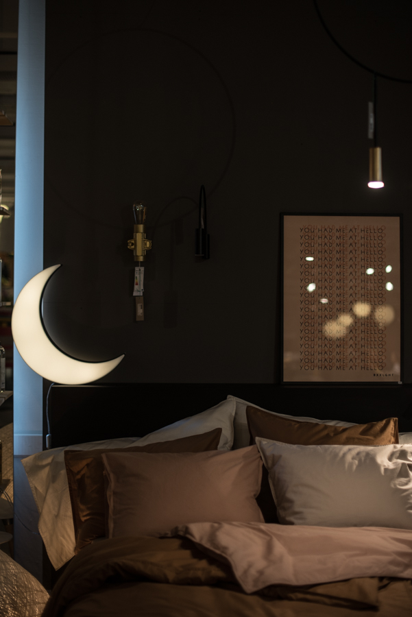 inspireras av belysning bordslampa måne midbec tapeter