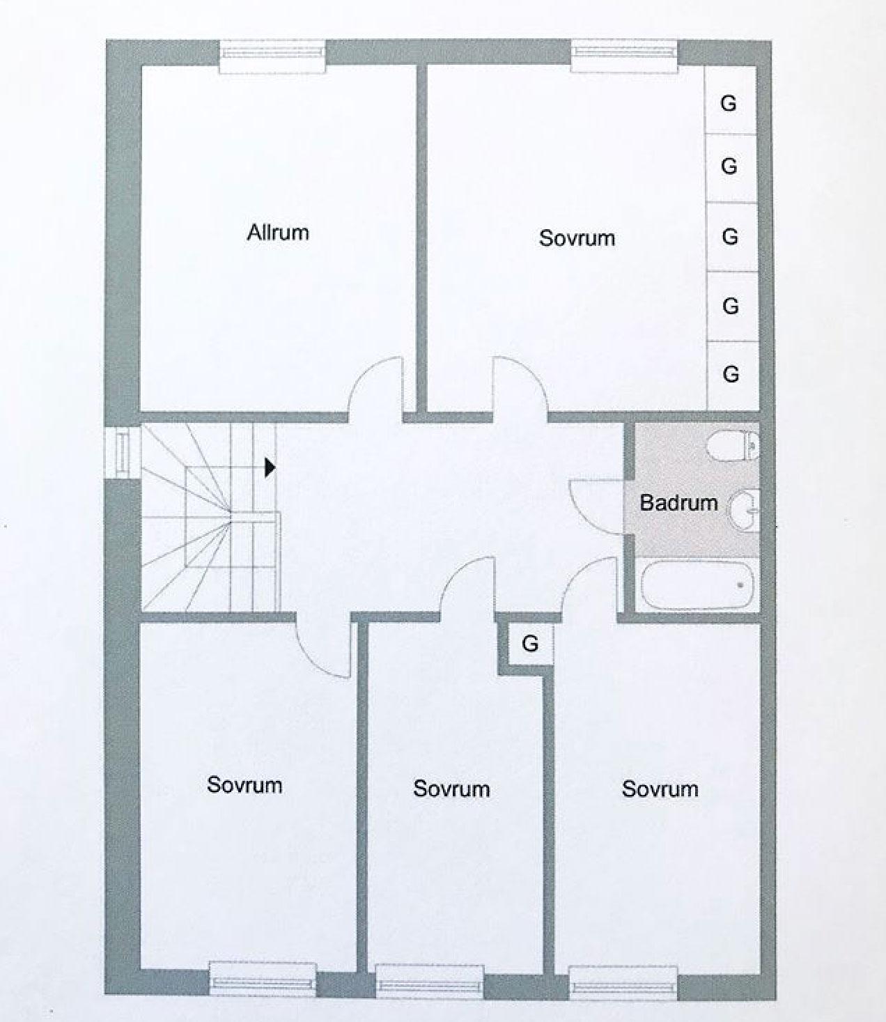 radhus-50-talet-visby-planlösning-övervåning-midbec-tapeter