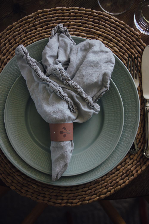 dukning servettring tapet apelviken midbec tapeter