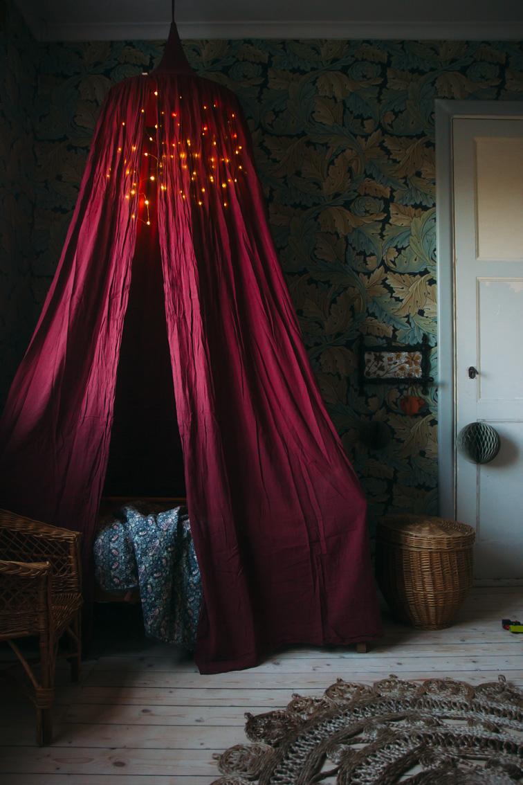 barnrum barnrumsinspiration sänghimmel midbec tapeter