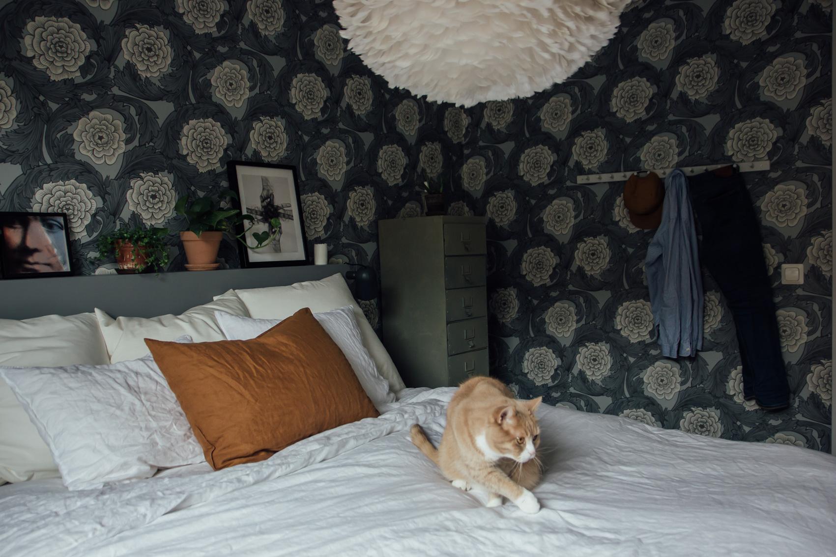 hemma hos trea sovrumstapet midbec tapeter