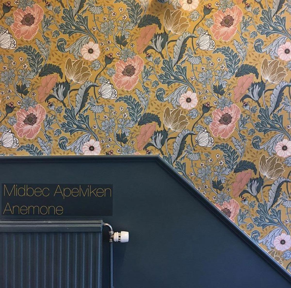 kulörer till tapet Anemone gul midbec tapeter