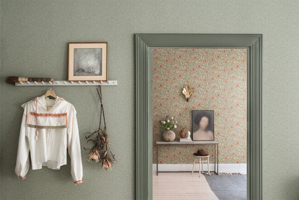 Tapetsera dina väggar med blommor Lyckebo