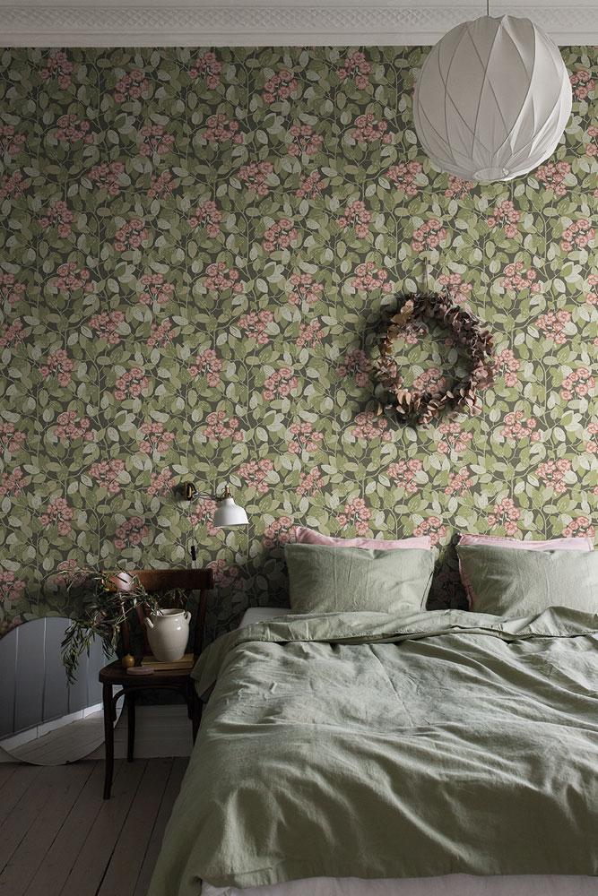 Klä väggarna i grönt Sovrum